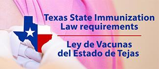 Texas State Immunization Law requirements