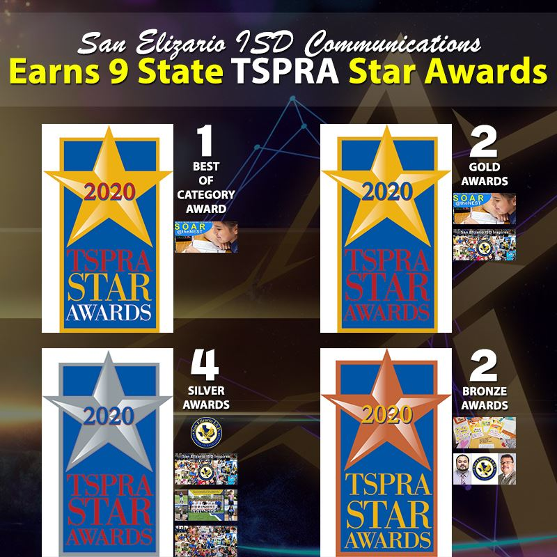 San Elizario ISD Earns 9 State TSPRA Communication Star Awards