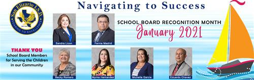 San Elizario ISD Board of Trustees Recognition Month This January